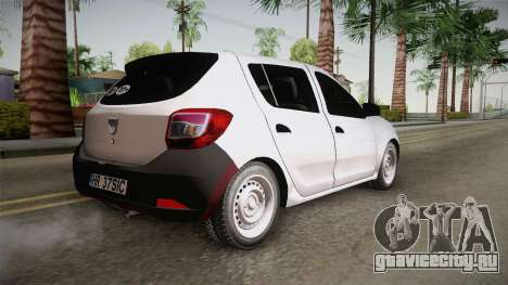 Dacia Sandero Székely для GTA San Andreas вид слева