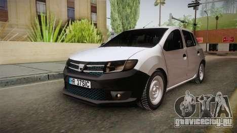 Dacia Sandero Székely для GTA San Andreas