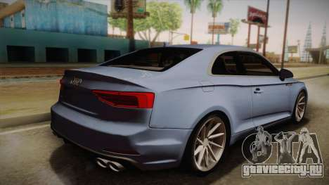 Audi S5 2017 для GTA San Andreas вид слева