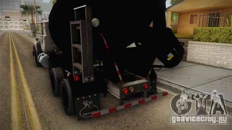 Mack RD690 Cement Mixer Truck 1992 для GTA San Andreas вид изнутри