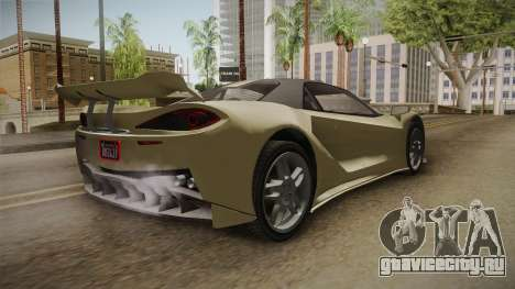 GTA 5 Progen Itali GTB для GTA San Andreas вид слева