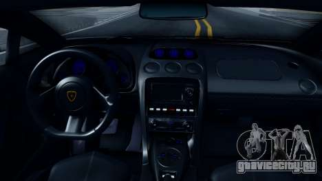 Lamborghini Gallardo LP570-4 Spyder 2012 для GTA San Andreas вид изнутри