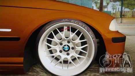 BMW 320i E46 для GTA San Andreas вид сзади слева