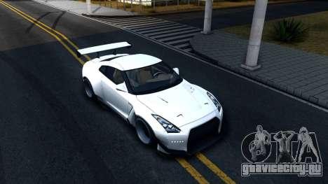 Nissan GT-R R35 Rocket Bunny v2 для GTA San Andreas вид справа