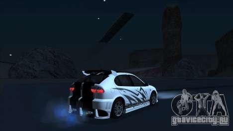 2003 Seat Leon Cupra R Series I для GTA San Andreas двигатель