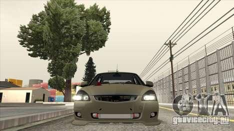 Lada Priora TURBO для GTA San Andreas вид сзади слева