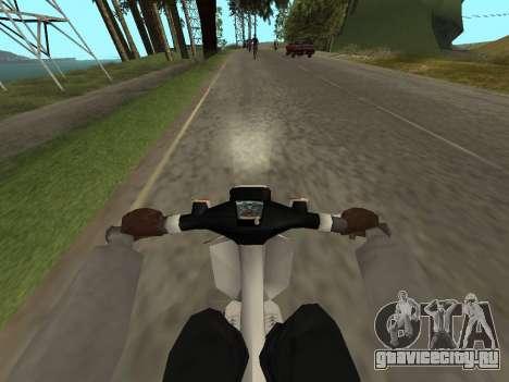Хонда ГБО для GTA San Andreas вид сзади