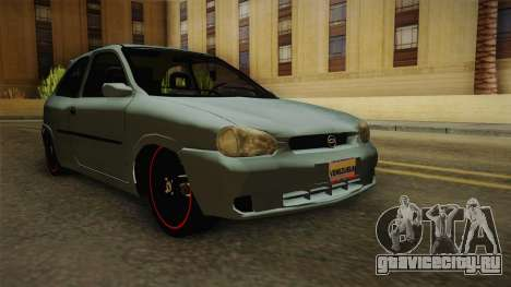 Chevrolet Corsa Speed 2006 v2 для GTA San Andreas вид сзади слева