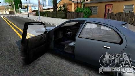 GTA 3 Kuruma SA style V2 для GTA San Andreas вид изнутри