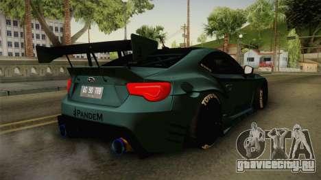 Subaru BRZ Pandem Rocket Bunny v3 для GTA San Andreas вид слева