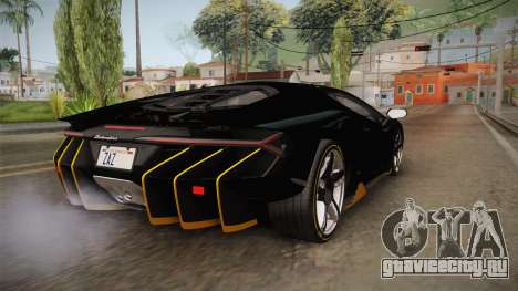 Lamborghini Centenario LP770-4 2017 Carbon PJ для GTA San Andreas вид слева