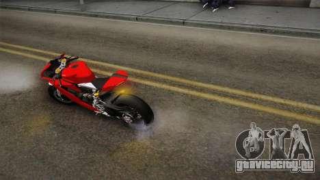 Ducati 1299 Panigale S 2016 для GTA San Andreas вид изнутри