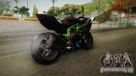 Kawasaki H2 2015 x Z1000 x Diavel для GTA San Andreas вид сзади слева