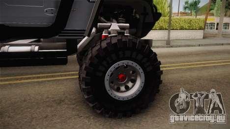 Hummer H1 Monster для GTA San Andreas вид сзади