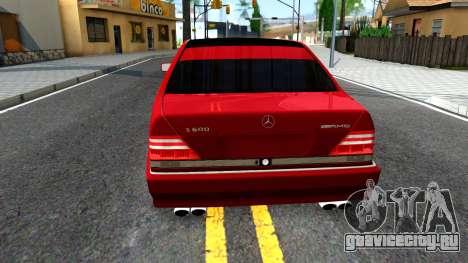 Mercedes-Benz S600 W140 для GTA San Andreas вид сзади слева