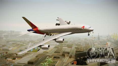 Airbus A380 Asiana Airline для GTA San Andreas вид сзади слева