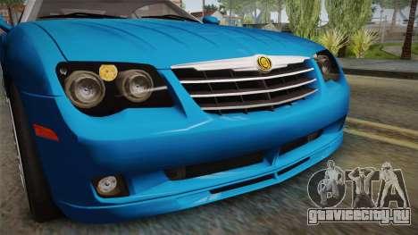 Chrysler Crossfire SRT-6 2006 для GTA San Andreas вид сверху