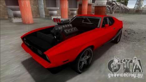 1971 Ford Mustang Drag для GTA San Andreas вид сзади слева