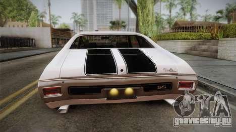 Chevrolet Chevelle SS 1970 для GTA San Andreas вид сзади