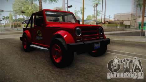 GTA 5 Canis Mesa Jurassic Park для GTA San Andreas вид справа