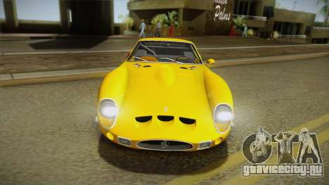 Ferrari 250 GTO (Series I) 1962 IVF PJ2 для GTA San Andreas вид сзади