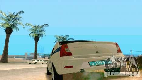 Renault Logan ГИБДД для GTA San Andreas вид справа