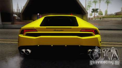 Lamborghini Huracan FBI 2014 для GTA San Andreas вид сзади