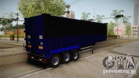 Trailer Dumper v2 для GTA San Andreas вид сзади слева