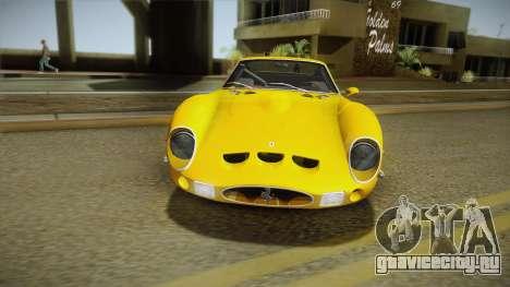 Ferrari 250 GTO (Series I) 1962 IVF PJ2 для GTA San Andreas вид изнутри