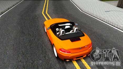 BMW Z4 sDrive35is для GTA San Andreas вид сзади