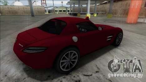 2010 Mercedes-Benz SLS AMG FBI для GTA San Andreas вид слева