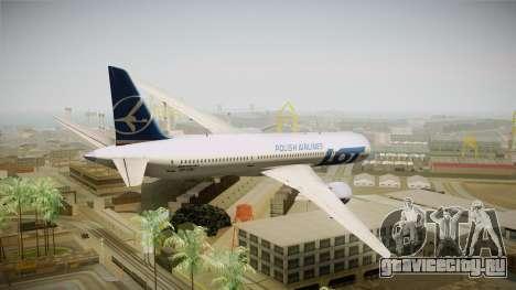 Boeing 787 LOT Polish Airlines для GTA San Andreas вид слева