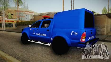 Toyota Hilux Turkish Gendarmerie Vehicle для GTA San Andreas вид слева