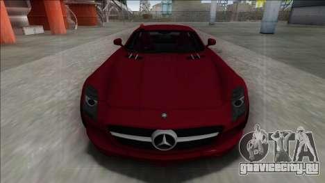 2010 Mercedes-Benz SLS AMG FBI для GTA San Andreas вид справа