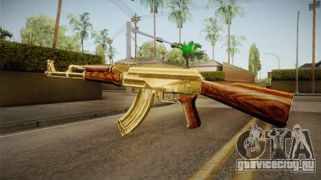 AK-47 Gold для GTA San Andreas второй скриншот