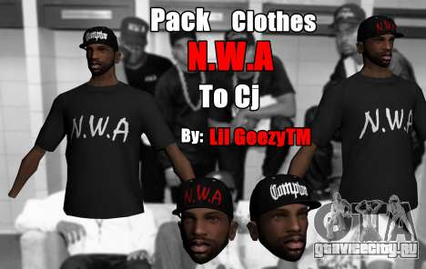 Pack Clothes N.W.A To Cj HD для GTA San Andreas