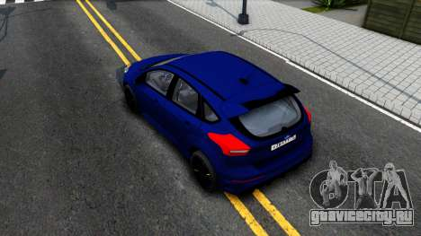 Ford Focus 2017 для GTA San Andreas вид сзади