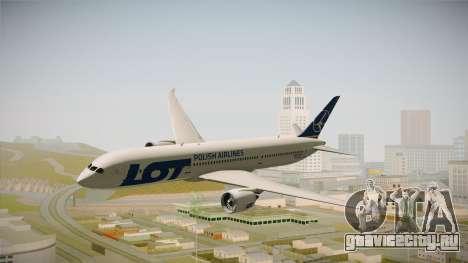 Boeing 787 LOT Polish Airlines для GTA San Andreas вид сзади слева