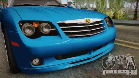 Chrysler Crossfire SRT-6 2006 для GTA San Andreas вид сбоку