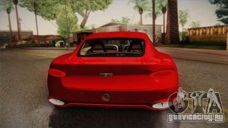 Bentley EXP 10 Speed 6 для GTA San Andreas вид изнутри