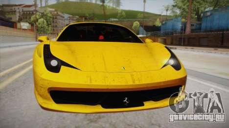 Ferrari 458 Spider FBI для GTA San Andreas вид справа