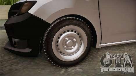 Dacia Sandero Székely для GTA San Andreas вид сзади