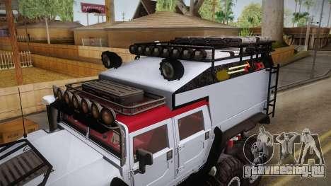 Hummer H1 Monster для GTA San Andreas вид сбоку