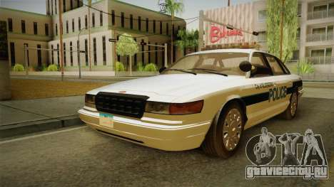 Brute Stainer Blueberry Police 1994 для GTA San Andreas вид справа