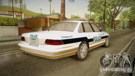 Brute Stainer Blueberry Police 1994 для GTA San Andreas вид слева