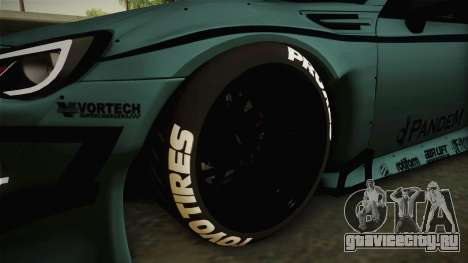 Subaru BRZ Pandem Rocket Bunny v3 для GTA San Andreas вид сзади