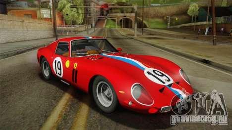 Ferrari 250 GTO (Series I) 1962 IVF PJ2 для GTA San Andreas вид слева