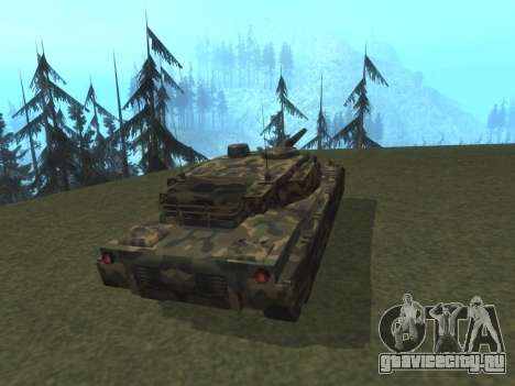 Rhino лесной камуфляж для GTA San Andreas вид сзади слева