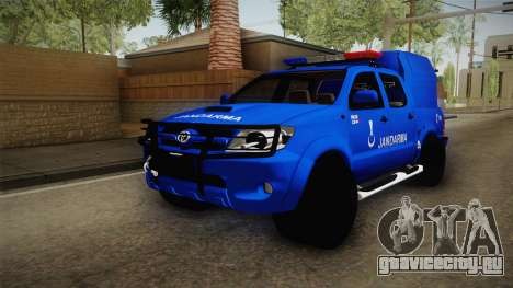 Toyota Hilux Turkish Gendarmerie Vehicle для GTA San Andreas