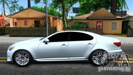 Lexus LS XF40 для GTA San Andreas вид слева